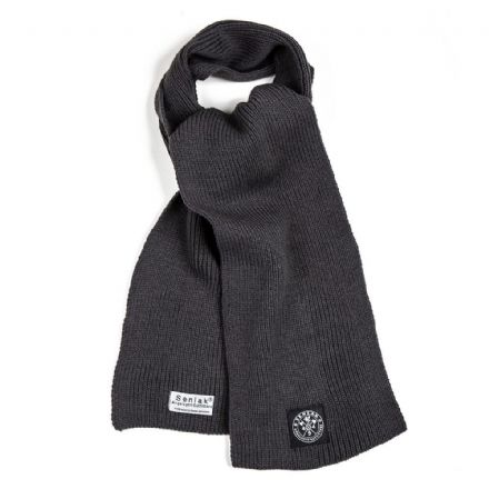 Senlak Heavy Knit Scarf - Charcoal